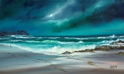 Grey Shores by Philip Gray - Original Painting on Box Canvas sized 39x24 inches. Available from Whitewall Galleries